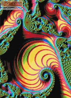 Rock candy fractal cross stitch kit