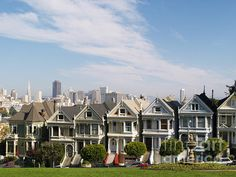 'The Painted Ladies' of Alamo Square in San Francisco. Sat in this park many days.