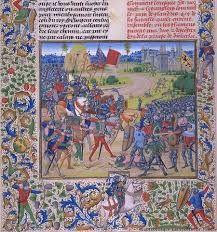 Guldensporenslag  1302, Vlaamse steden tegen het leger van de Franse koning. De Vlamingen wonnen.