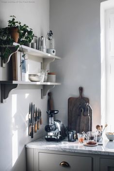 Our new DeVol Kitchen in the Countryside - Our Food Stories Shaker Kitchen, Rustic Kitchen, Vintage Kitchen, Kitchen Ideas, Kitchen Decor, Kitchen Pics, Kitchen Designs, Devol Kitchens, Home Kitchens