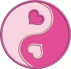 hearts and love,ying-yang Pink Love, Pretty In Pink, Jing Y Jang, Ying Yang Sign, Henna Heart, Foto Logo, Yin Yang Tattoos, Graffiti Alphabet, Love Wallpaper