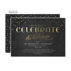 Chalkboard Sprinkles Party Invitations