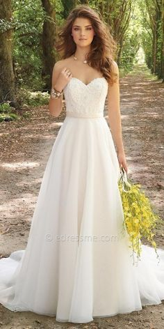 Corset Organza Wedding Dress By Camille La Vie. Don't usually go for strapless but this is so pretty.