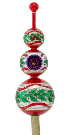 fd376c23266b Shop for Holly Wreath -- Radko Finial Christmas ornament personalized by  hand in my studio. We offer over 3000 personalized family Christmas  ornaments.