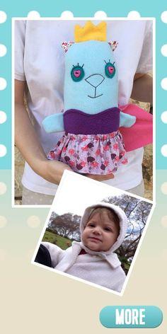 Princess for my princess... Gift idea for girls, Cute princess plush, handmade.