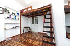 The studio with mezzanine double bed