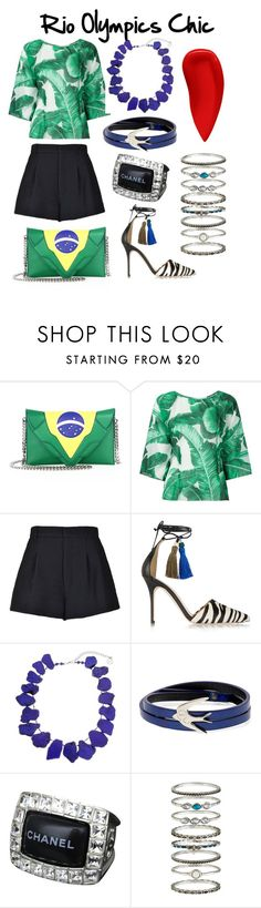"""""""Rio Olympics Chic"""" by luxurycitizen on Polyvore featuring Elena Ghisellini, Dolce&Gabbana, RED Valentino, J.Crew, Erica Lyons, McQ by Alexander McQueen, Chanel, Accessorize and Lipstick Queen"""