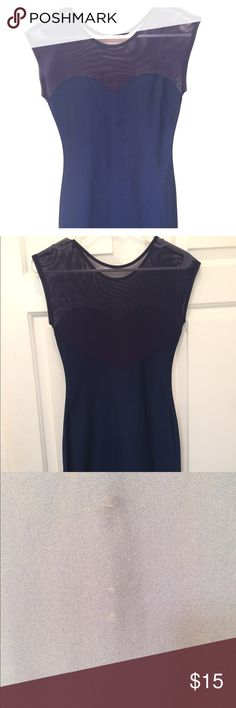 Blue American Apparel Body Con Dress Gently used American Apparel blue mesh body con dress. Size medium / large. Minor spot which should come out in the wash, price reflecting. Minor pilling near seam. American Apparel Dresses Mini