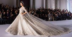 Vestido de casamento inspiração das passarelas de alta costura