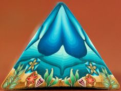 Triangle Underwater Scene Polymer Clay Cane 'Under by ikandiclay, I love you your style!!!