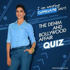 and Affair Can you name the denim outfit that Deepika is wearing? Hint: The answer is hidden in this week posts on College Goers. Fashion Quiz, New Freedom, Denim Outfit, College Fashion, Affair, Bollywood, Posts, How To Wear, Shirts