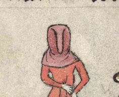 The Fourteenth Century sees hoods becoming popular with women. You mostly see the open hood variety – a hood that is not closed under the chin.