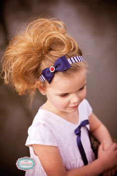 Nautical Headband - Red and Navy Headband - Red, White and Blue - Beach Headband - Summer Headband - Photography Prop - Newborn Photos