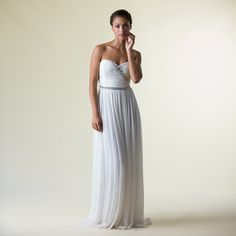 An exquisitely ethical handmade wedding dress.