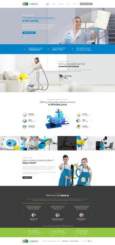 EcoClean is a professional PSD template for #cleaning companies and private entrepreneurs #website.