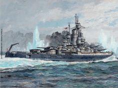 Cada vez veo menos, pero diría que las torres B y C son dobles, por lo tanto se trataría del reconstruido USS Nevada... Más en www.elgrancapitan.org/foro