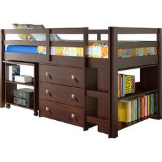 Found it at Wayfair - Zechariah Twin Low Loft Bed with Storage