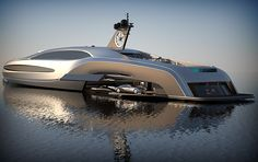 The best Yacht ever, I mean it has a custom limo in its garage, yep it has a garage