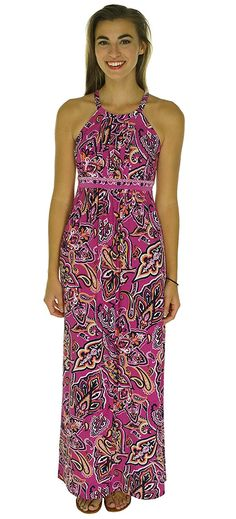 INC International Concepts Paisley Print Halter Maxi Dress ** Check this awesome image  : Dresses Sale