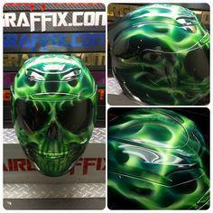 Green Flaming Skull