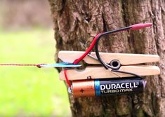 One man created a trip-wire alarm out of just a few items found in his junk drawer, and when triggered it can set stuff on fire! Survival Life Hacks, Survival Weapons, Camping Survival, Outdoor Survival, Survival Prepping, Emergency Preparedness, Survival Skills, Survival Stuff, Survival Gear