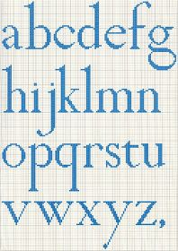 Brain Clutter: Cross stitch alphabet #2