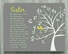 22 Trendy birthday message for sister poems Birthday Message For Bestfriend, Birthday Messages For Sister, Message For Sister, Sister Birthday Quotes, Love My Sister, Birthday Gifts For Sister, Sister Gifts, Birthday Wishes, Little Sister Poems