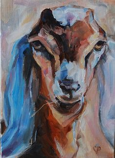 I stumbled across this beautiful painting of a Nubian goat.  Unfortunately…