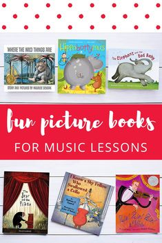 You can never have enough musical story books for preschool music classes or beginning piano lessons. Kindergarten Music Lessons, Preschool Music Activities, Singing Lessons, Movement Preschool, Elementary Music Lessons, Vocal Lessons, Movement Activities, Primary Lessons, Elementary Schools