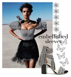"""""""Embellished Sleeves"""" by carlina-tof ❤ liked on Polyvore featuring Raye"""