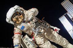Two Cosmonauts on EVA - SpaceRef