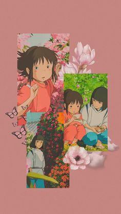 anime wallpaper collage (spirited away)