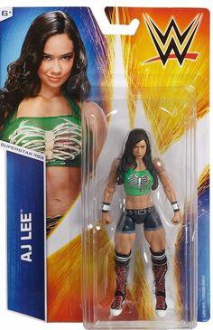 WWE SERIES #53 AJ LEE SUPERSTAR BASIC ACTION FIGURE WRESTLING TOY DIVA #Mattel