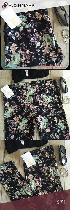 LulaRoe PAISLEY FLORAL BLACK TC Leggings!  LulaRoe FLORAL SOFT BLACK TC Leggings  Gorgeous florals in mauve, butter yellow, mint, & slate blue on a BLACK background! GORGEOUS! Very sought after NEW  print & hard to find! BEAUTIFUL!!! Supply + DEMAND = Price These are made in China. * I am not a consultant… I am just a LulaRoe addict and love the hunt to find great prints! Enjoy!  {$25 is not an acceptable offer} LuLaRoe Pants Leggings
