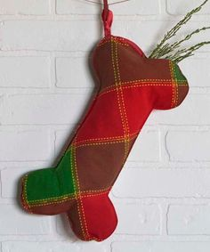 Look what I found on Cherry Red Plaid Tristan Dog Bone Stocking Pet Stockings, Christmas Stockings, Christmas Ornaments, Cherry Red, Red Plaid, Holiday Treats, Holiday Decor, Bones, Dog
