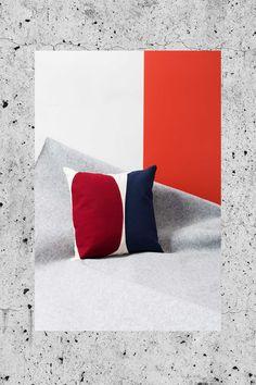 "Studio Testo, ""Composizioni"", capsule collection of cushions exclusively designe dfor Arcarreda store in Milan."