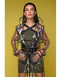Topshop Transparent Trench Coat Pvc Raincoat Very Rare