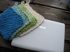 Little Tuffys Knit Dishcloth and scrubby pattern