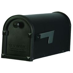 Postal Pro Hampton 8-in x 10-in Plastic Black Post Mount Mailbox