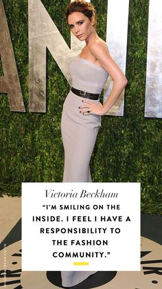 Check out our incredible guide to the most amazing fashion quotes ever. Love Fashion, Girl Fashion, Womens Fashion, Fashion Trends, Famous Fashion Quotes, Impress Quotes, Victoria And David, Girly Quotes, David Beckham