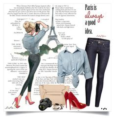 """Paris is always a good idea"" by annabu ❤ liked on Polyvore featuring H&M, Miss Selfridge, Christian Louboutin and Nikon"