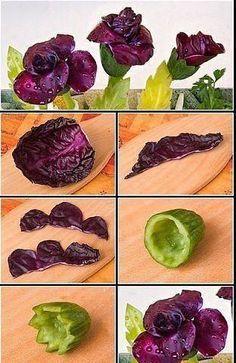 Flores de frutas e legumes pra deixar os pratos mais bonitos! - Casa da Cris