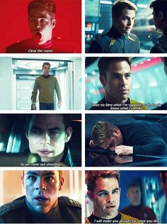 Captain Kirk. chris pine. So much perfect in one character