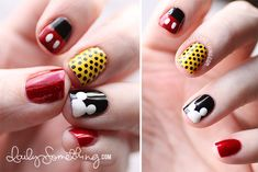 Disneyland Manicure #2 (Mickey Inspired) - Daily Something