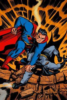 """""""Superman vs. Batman"""" by Darwyn Cooke"""