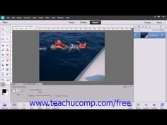 Photoshop Elements 12 Tutorial The Recompose Tool Adobe Training Lesson 13.13 - YouTube