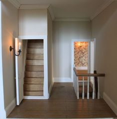 how to make dollhouse miniature staircase with landing - Google Search