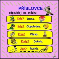 PŘÍSLOVCE Months In A Year, Kids Learning, Grammar, Montessori, Worksheets, Homeschool, Language, Activities, Teaching