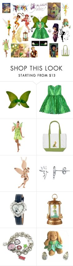 """Tinkerbell"" by queenharley666 ❤ liked on Polyvore featuring Disney, Belk Silverworks and Precious Moments"