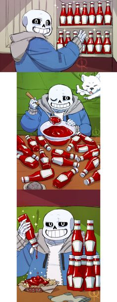 Sans has a nice ketchup collection